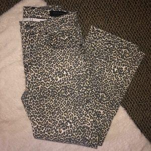All Saints Ava Crop Straight Leg Lepoard Jeans!!